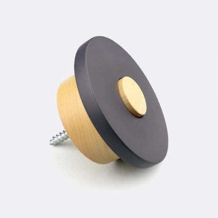 stylish black wooden wall knob