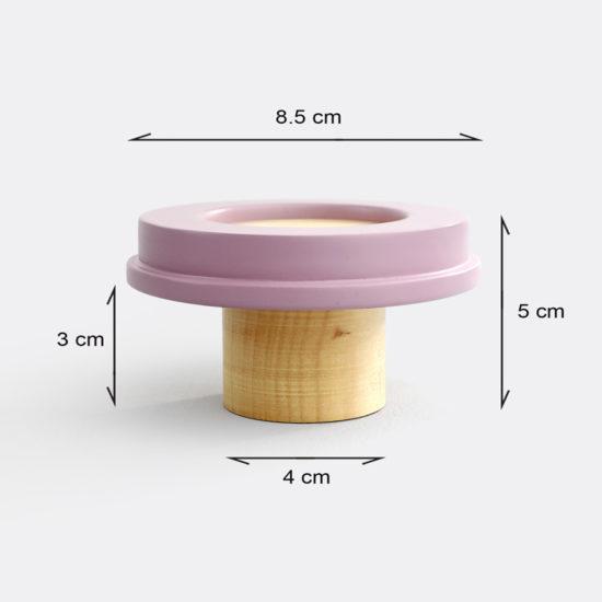 Lilac wall knob for kids room
