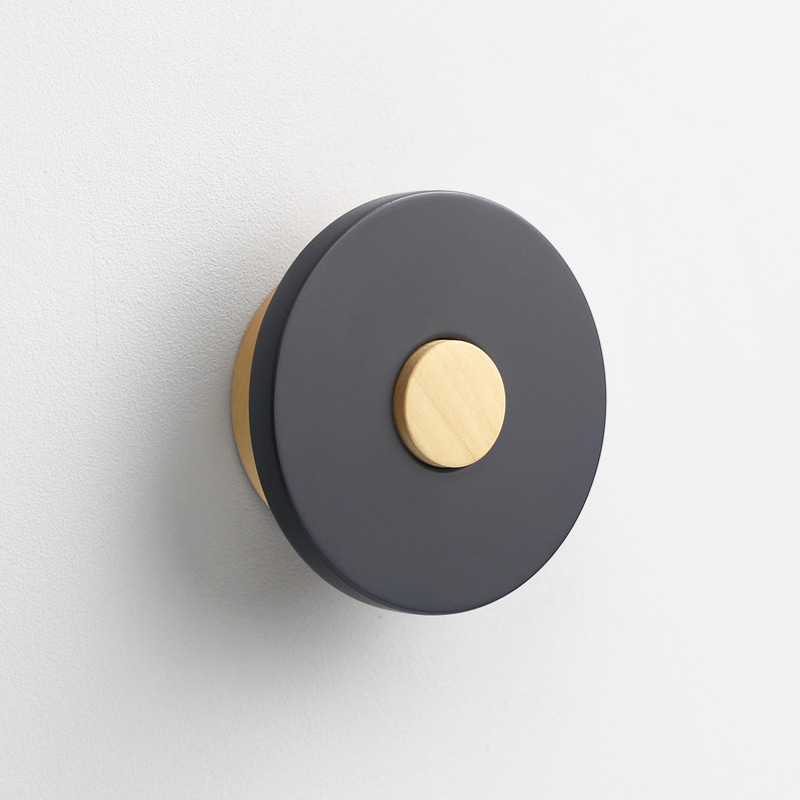 black wooden wall knob