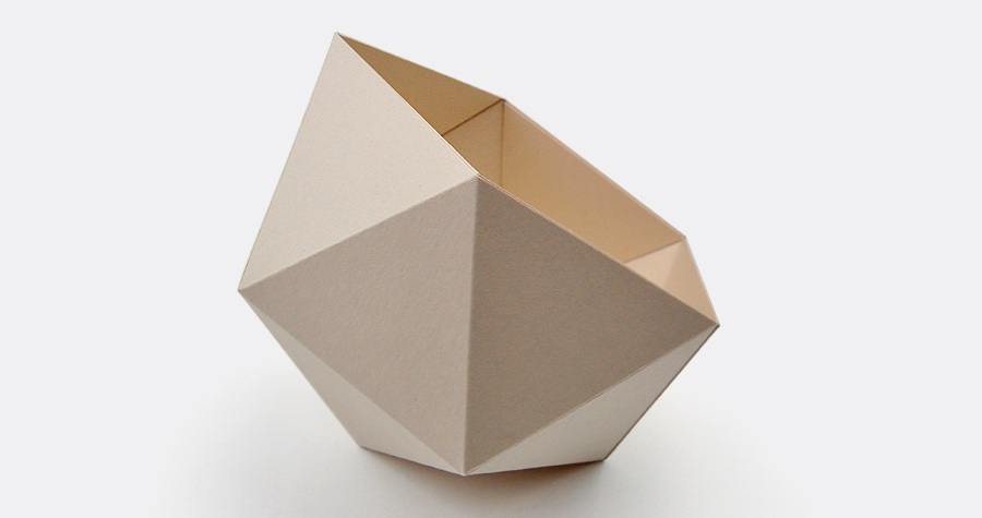 made of cardboard diamond box