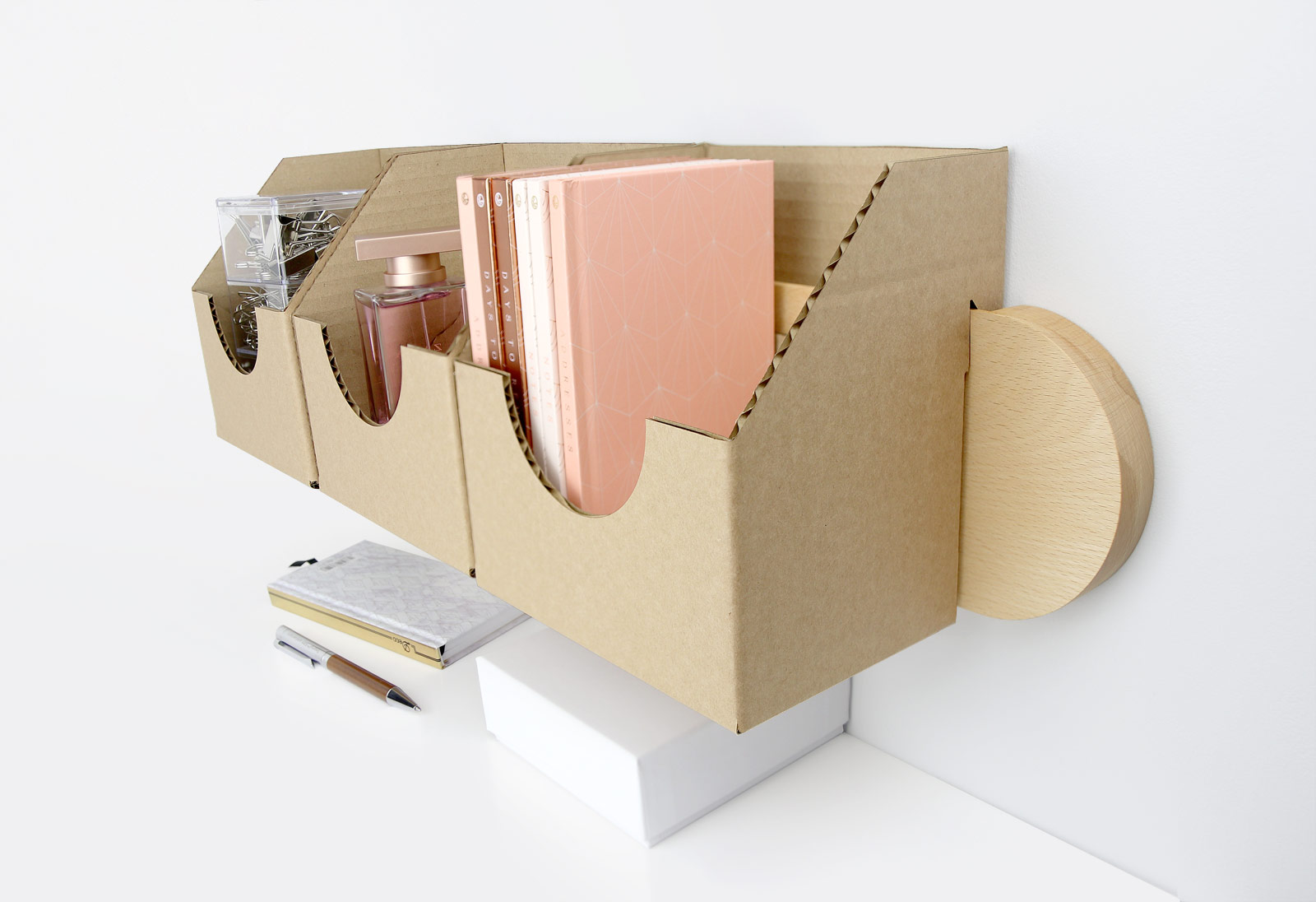 Cardboard Wall-Mounted Catch-all Box